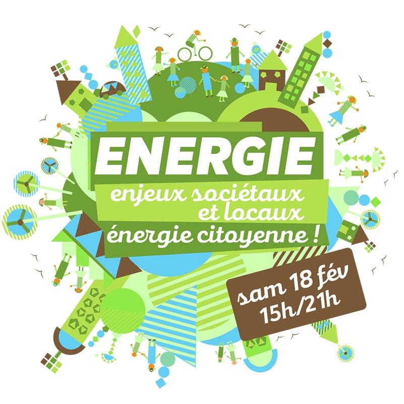 design graphique énergie citoyenne biocoop