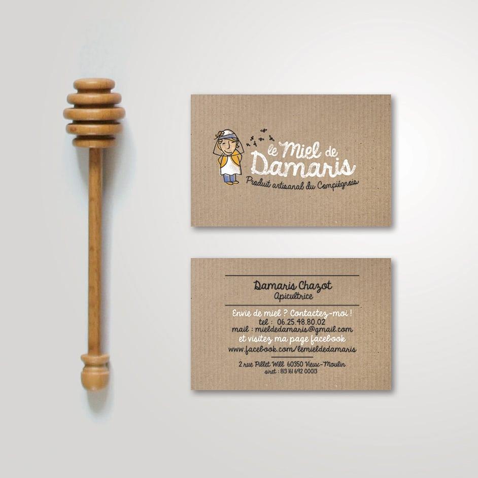 Logo design - design de marque - le miel de Damaris
