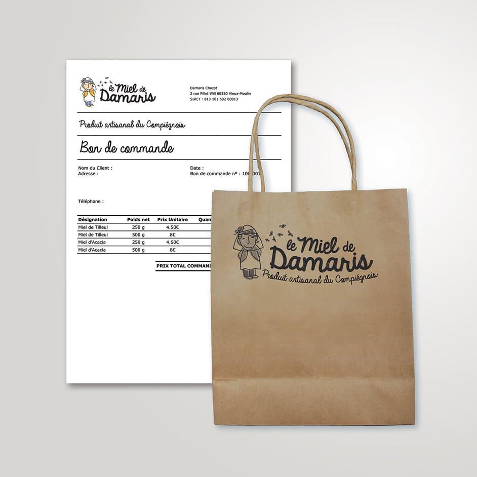 Design branding - papèterie - sac
