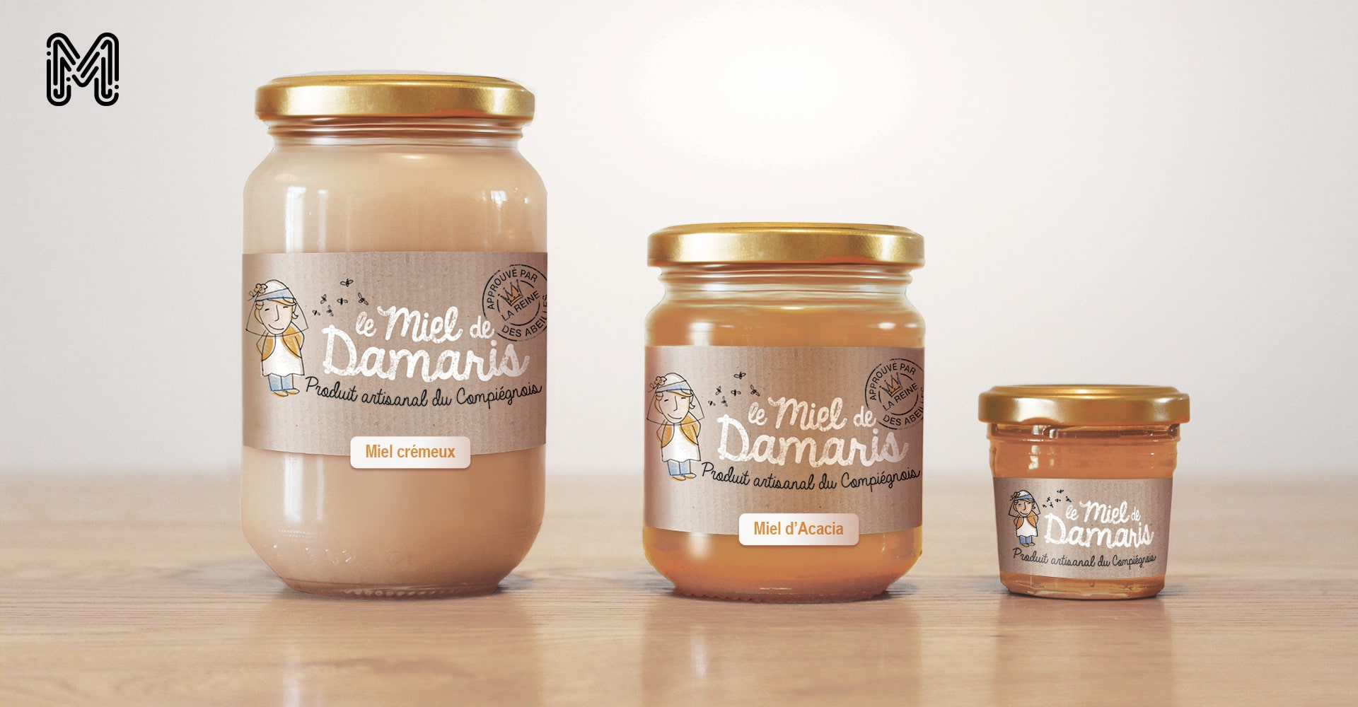 design branding - miel de damaris - packaging