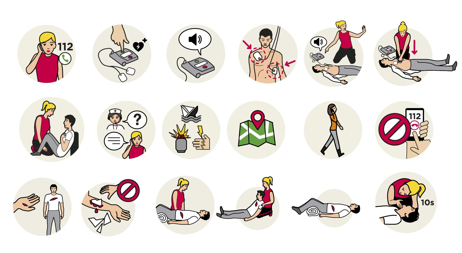 Secourisme illustrations