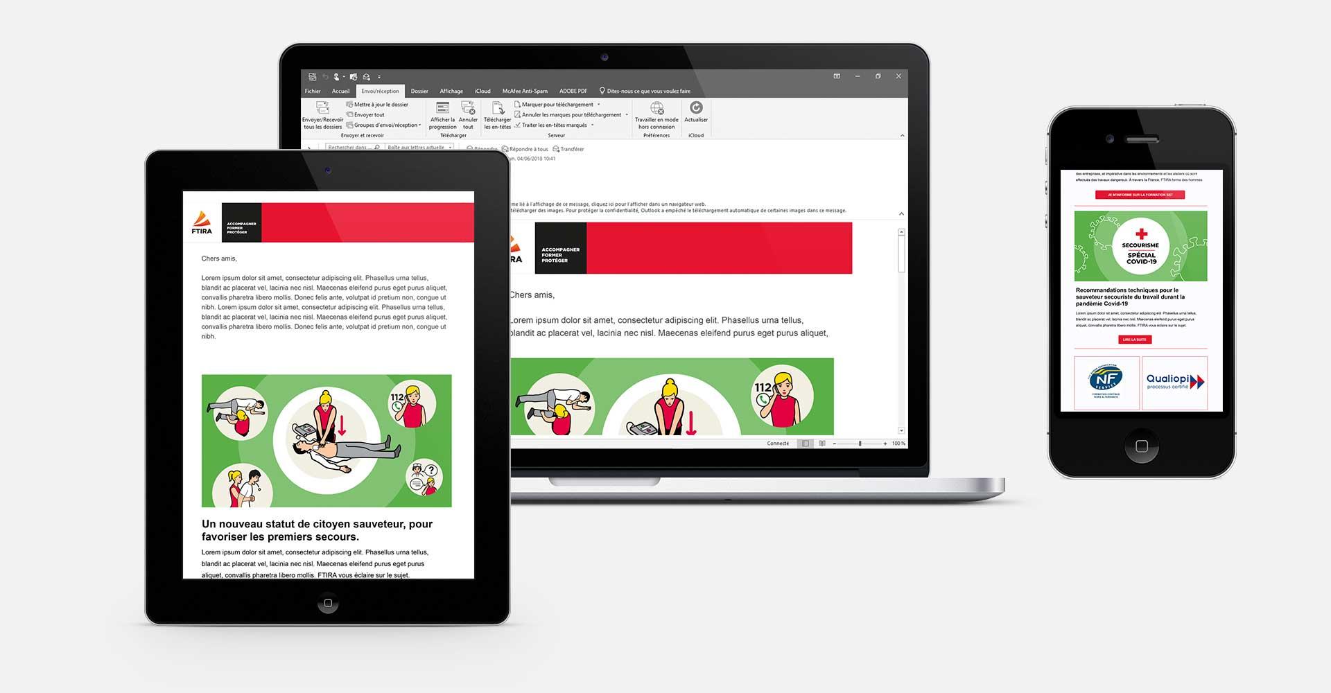 webdesign newsletter centre formation