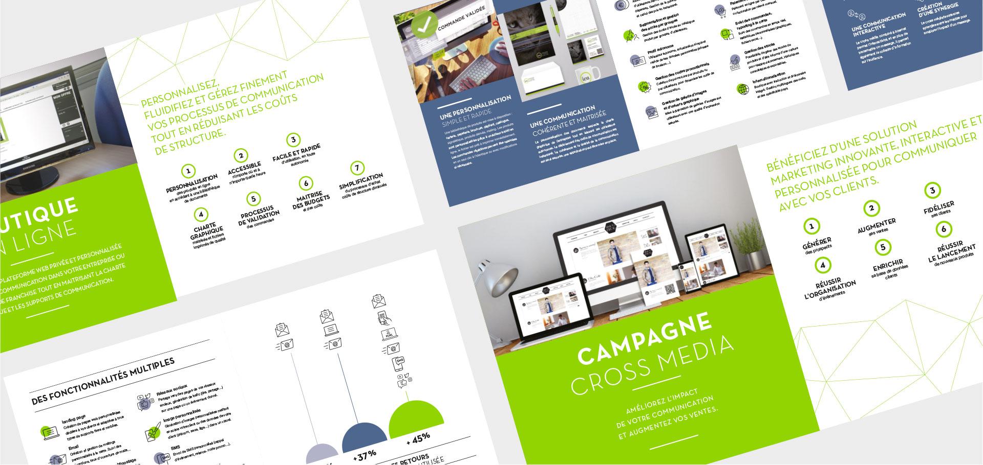 design d'edition cross média pour l'imprimerie ICA - lyon