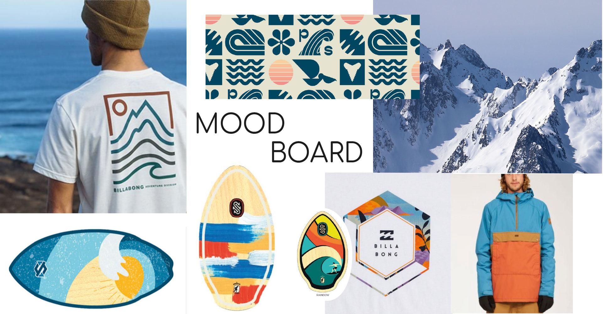 Mood Board de l'univers de la marque