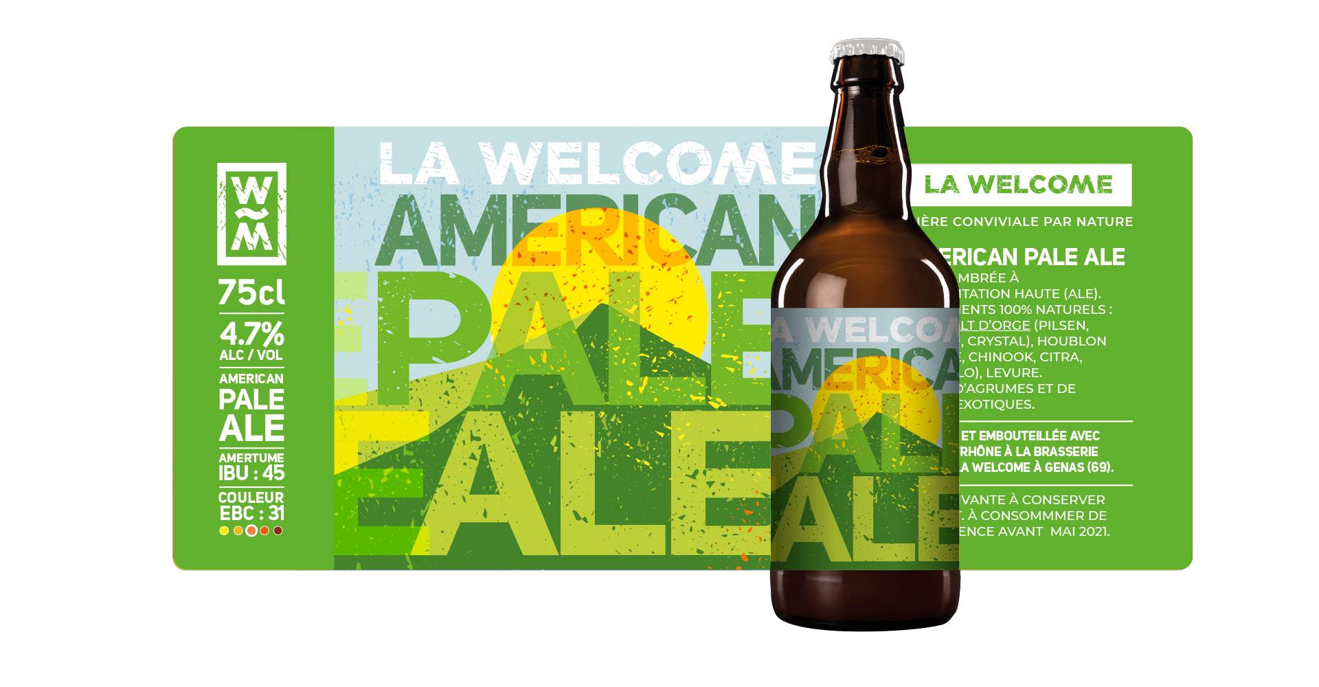 packaging habillage Americain Pale Ale