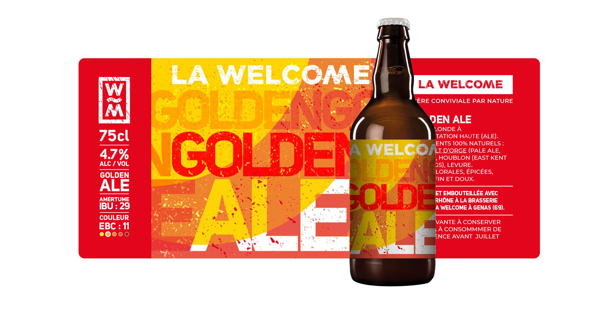 packaging habillage Golden Ale