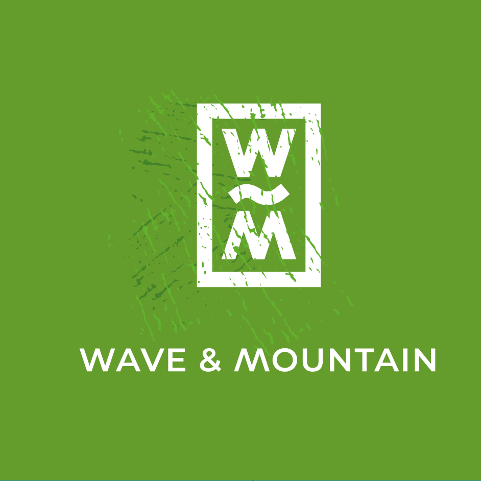 pictogramme Wave and mountain